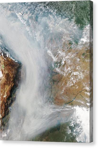 Forest Fires In South America Canvas Print by Nasa
