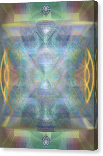 Forested Chalice II In The Flower Of Life And Vortexes Canvas Print