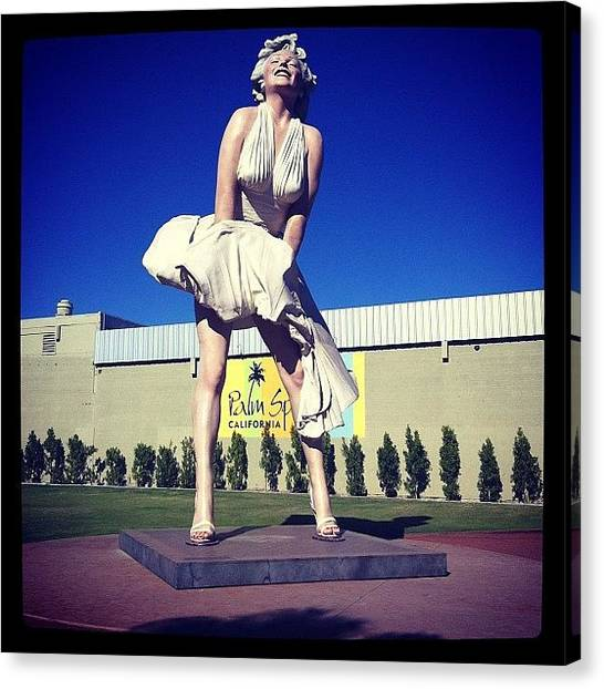 Marilyn Monroe Canvas Print - #forever #marilyn💋 #palmsprings #ca by Sarah Long