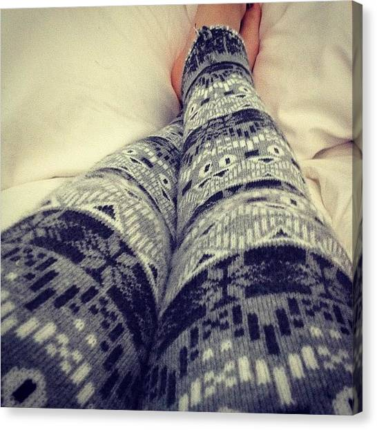 Snowflakes Canvas Print - #forever21 #legs #tights #leggings by Marisag ☀✌