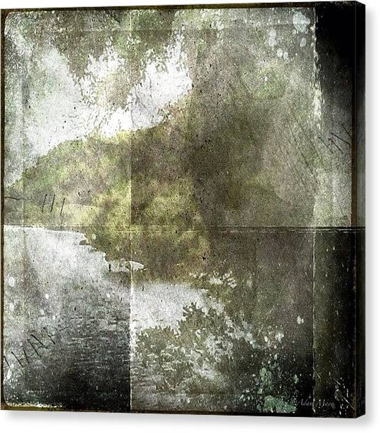 Iphone 4s Canvas Print - Forgotten Landscape - From A Dusty by Photography By Boopero