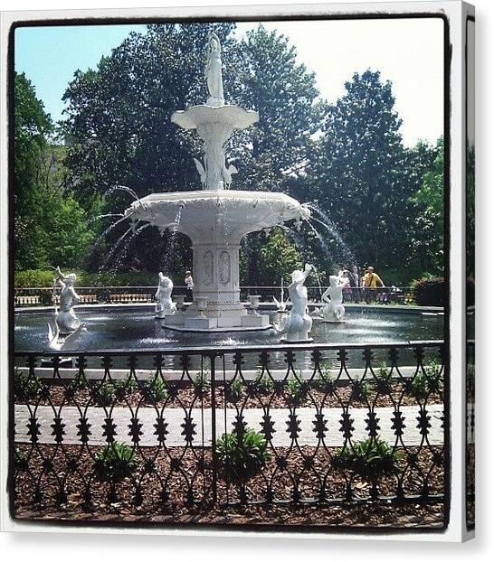 Georgia Canvas Print - Forsyth Park Fountain by Christian Carollo