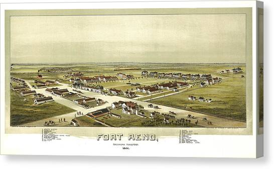 Fort Reno Oklahoma Territory 1891 Canvas Print by Donna Leach