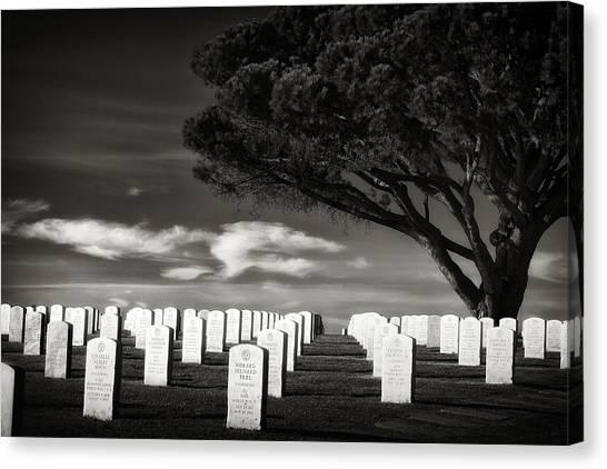 Fort Rosecrans National Cemetery Canvas Print - Fort Rosecrans National Cemetery by Paul Bartell