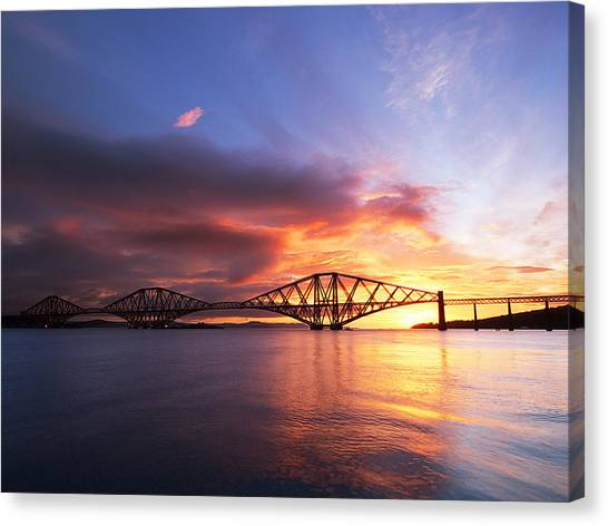 Forth Sunrise Canvas Print by Keith Thorburn LRPS AFIAP CPAGB