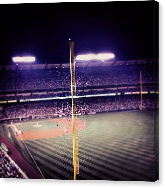Foul Canvas Print - #foul Pole Angels Vs. Yankees by Landon 👊