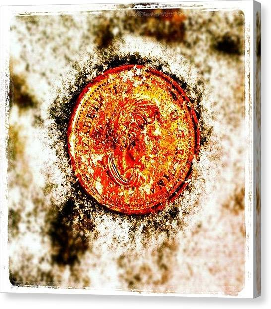 Lucky Canvas Print - Found A Penny While Shoveling. - #lucky by Liza Mae | Luxavision