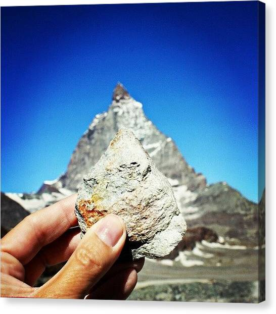 Matterhorn Canvas Print - Found A Rock That Looks Like The by Kelsi Doerrer