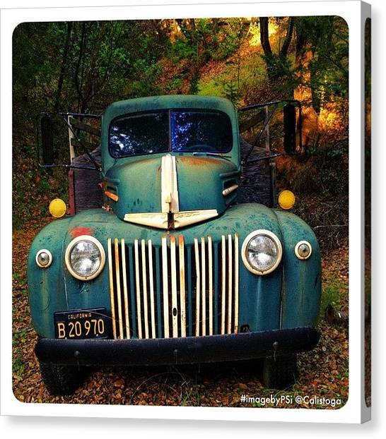 Ford Canvas Print - Found This Beautiful Old Ford Truck by Peter Stetson