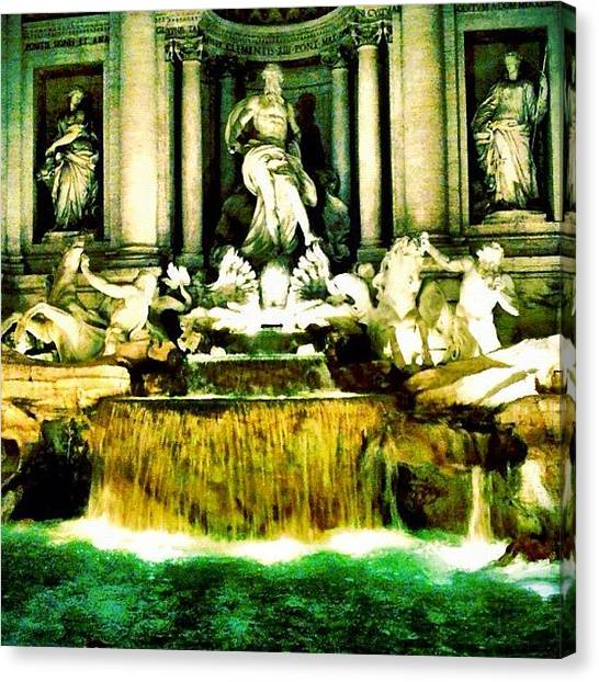 Hot Dogs Canvas Print - Fountain Of Love... Rome by Kevin Pan