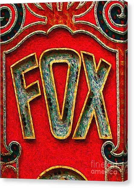 Fox Theater Oakland Sign Canvas Print by Wingsdomain Art and Photography
