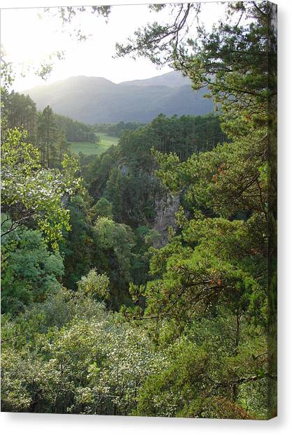 Foyers Valley Canvas Print