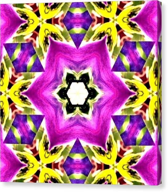 Yoga Canvas Print - #fractal #art #meditating #mandala In by Pixie Copley