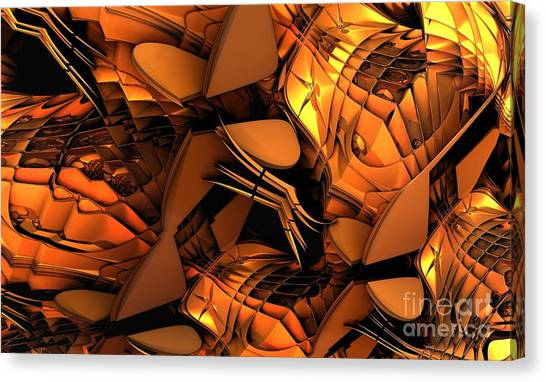 Fractal - Orchestra Canvas Print by Bernard MICHEL