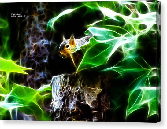 Fractal - Peek A Boo II - Robbie The Squirrel - 8242 Canvas Print