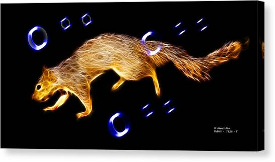 Fractal - Searching -  Robbie The Squirrel -7828 Canvas Print