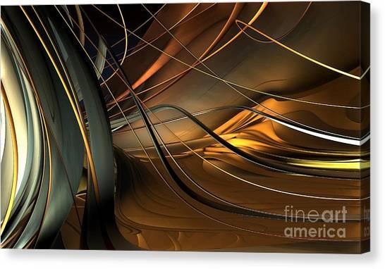 Fractal - Strings Canvas Print by Bernard MICHEL