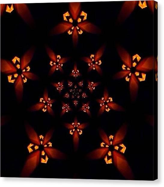 Fractal Canvas Print - #fractalart #star On #instagram by Pixie Copley