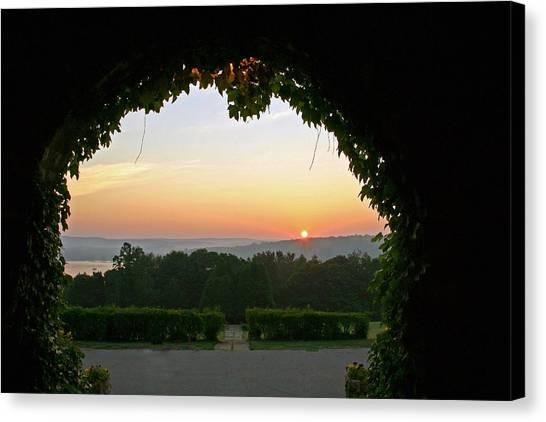 Framed Sunrise Canvas Print
