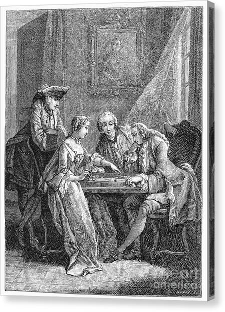 Backgammon Canvas Print - France: Backgammon, C1750 by Granger