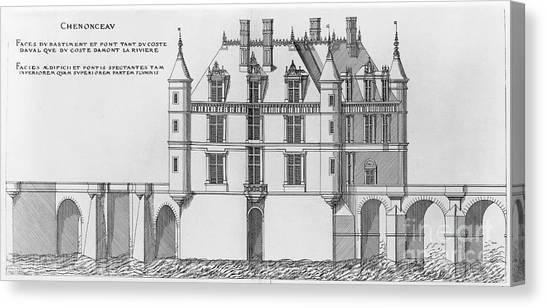 Chenonceau Castle Canvas Print - France: Chenonceau by Granger
