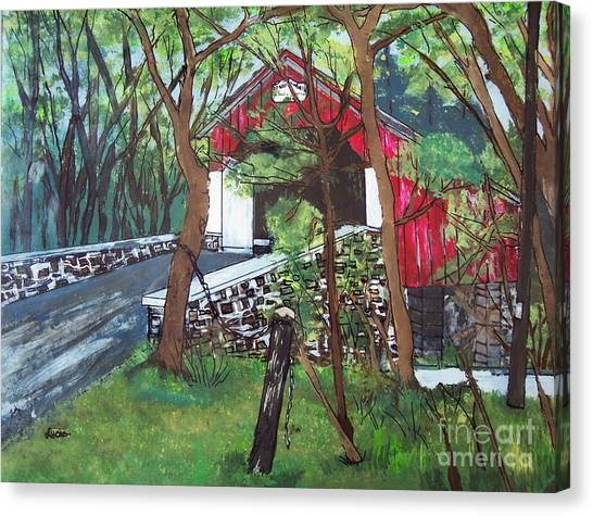 Frankenfield Covered Bridge Canvas Print