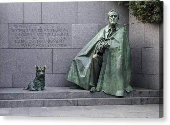 Franklin D. Roosevelt Canvas Print - Franklin Delano Roosevelt Memorial - Washington Dc by Brendan Reals