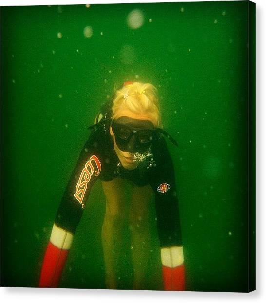 Underwater Canvas Print - Free by Krum Zhikov
