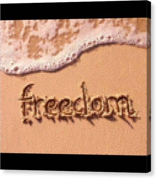 Kiss Canvas Print - #freedom by Kiss Inthefog