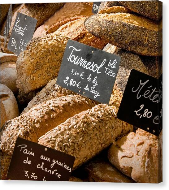 French Bread Of Provence Canvas Print by Kent Sorensen