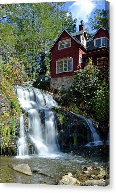 French Broad River Falls  Canvas Print