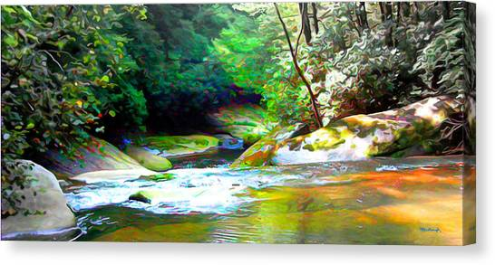 French Broad River Filtered Canvas Print