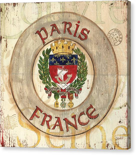 City-scapes Canvas Print - French Coat Of Arms by Debbie DeWitt