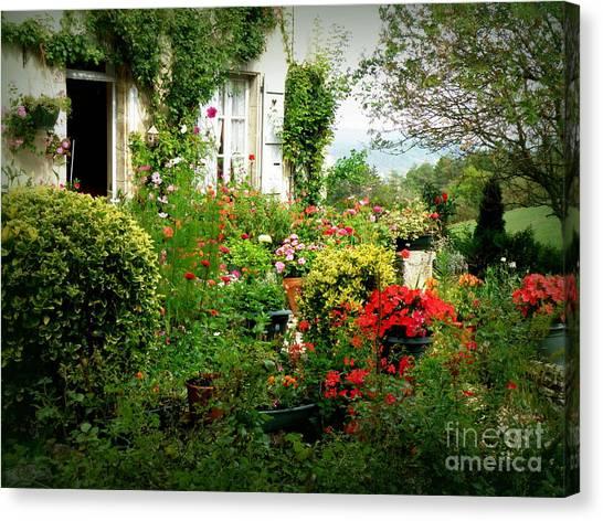 French Cottage Garden Canvas Print