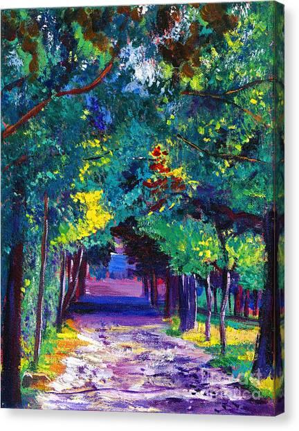 Lavendar Canvas Print - French Country Road by David Lloyd Glover