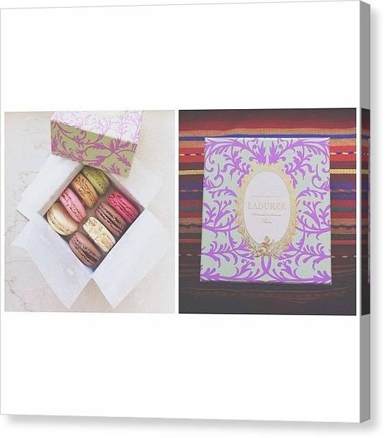 Presents Canvas Print - French Dessert Macaron by Ann K
