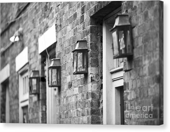 French Quarter Lamps Canvas Print