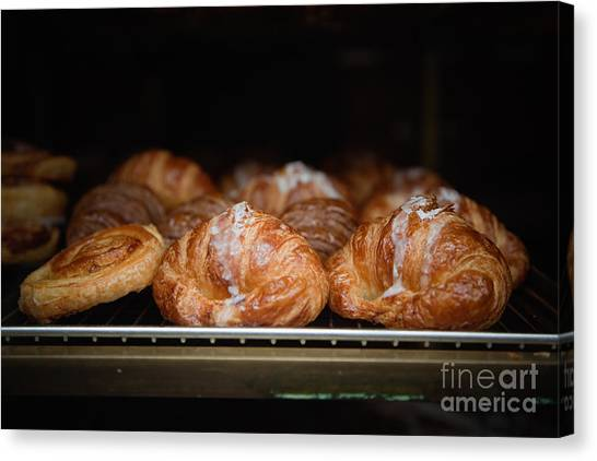 Fresh Croissants Paris Canvas Print by Ei Katsumata