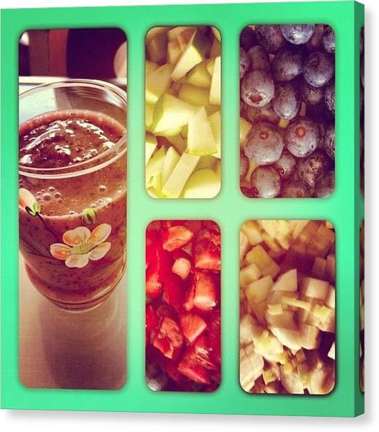 Juice Canvas Print - #fresh #fruit #healthy #juice #homemade by Chloe Milan