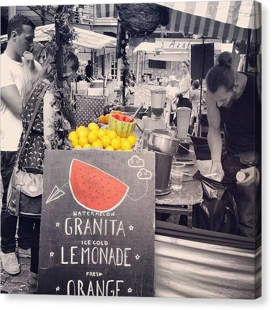 Lemons Canvas Print - Fresh Fruit Juice by Walied A