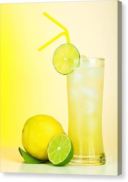 Fresh Lemon Juice Canvas Print by Anna Om