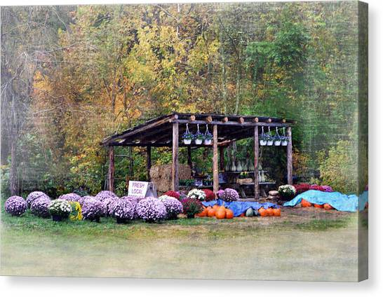 Produce Stand Canvas Print - Fresh Local Produce by Kathy Jennings