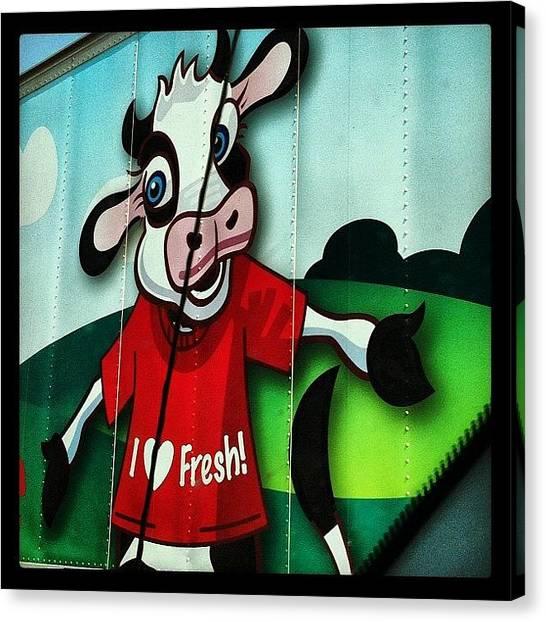 Milk Canvas Print - Fresh by Lori Lynn Gager