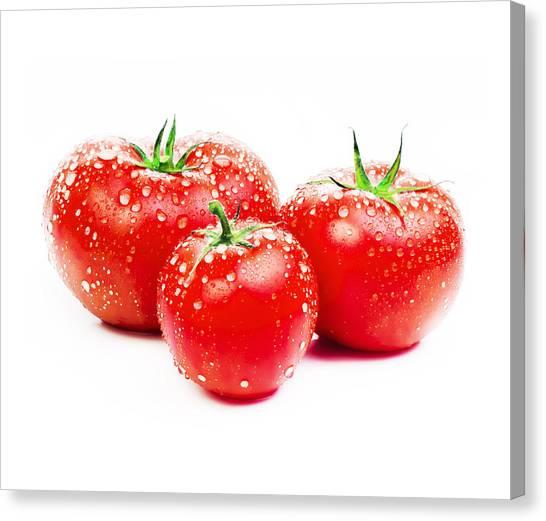 Ketchup Canvas Print - Fresh Tomato by Setsiri Silapasuwanchai
