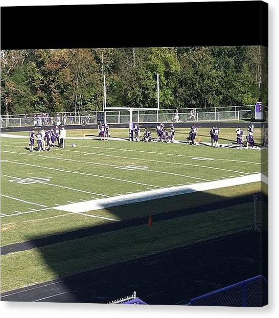 Football Teams Canvas Print - #freshmen #game #sevierville by S Smithee