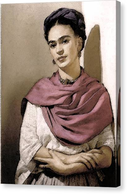 Frida Interpreted 2 Canvas Print