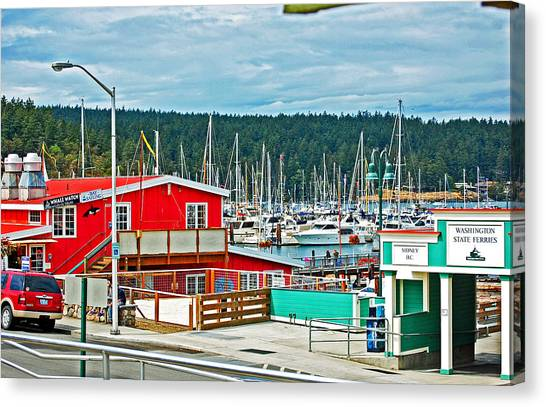 Canvas Print - Friday Harbor by Randall Templeton