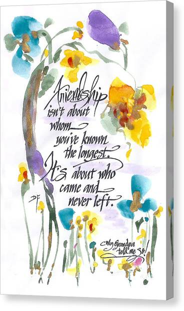 Friendship Canvas Print by Darlene Flood