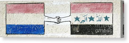 Friendship Flags Canvas Print by Unknown