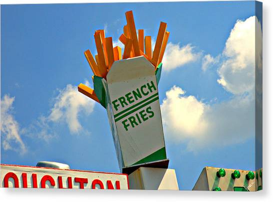 Fries In The Sky Canvas Print by Bruce Carpenter